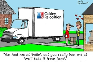 Oakley Relocation Packing Services Comic